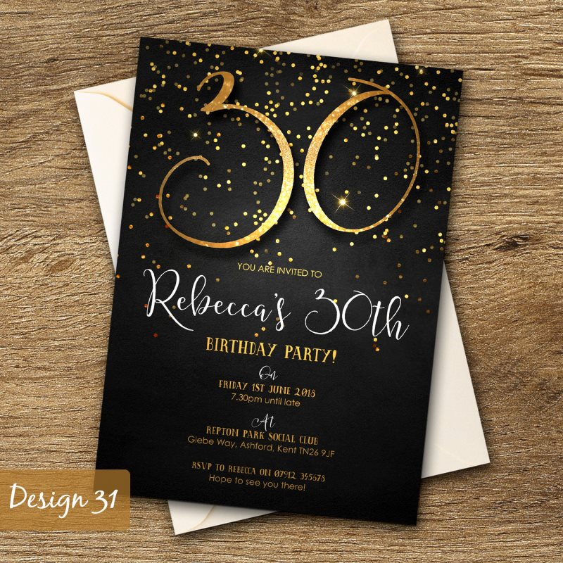 Birthday Invitations Personalised Party Invites 18th 21st 30th – Personalised 18th Birthday Invitations