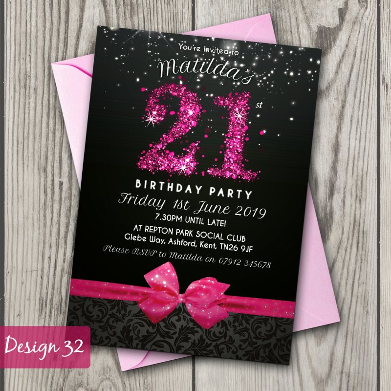 Birthday Invitations Personalised Party Invites 18th 21st 30th – Personalised Party Invites Uk