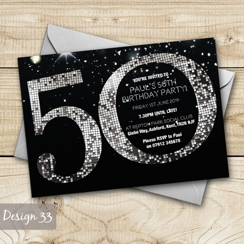 Birthday Invitations Personalised Party Invites 18th 21st 30th – Personalised 21st Birthday Invitations