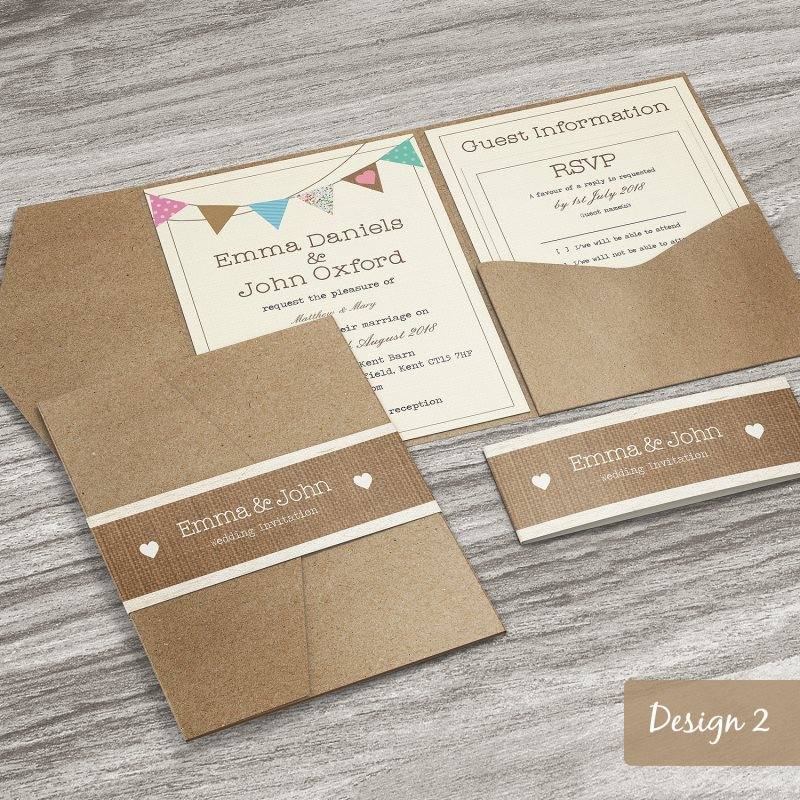 personalised pocketfold wedding invitations day or evening With envelope style wedding invitations uk