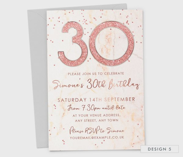Birthday Party Invitations 18th 21st 30th 40th Or 50th