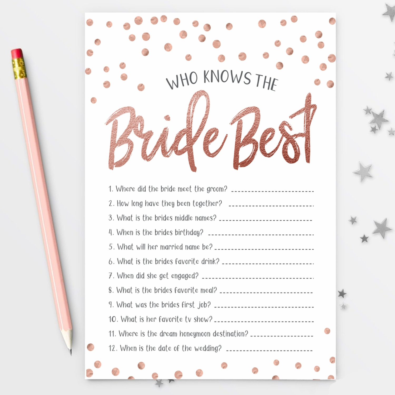 Hen Night Bridal Shower Advice Help Game Cards